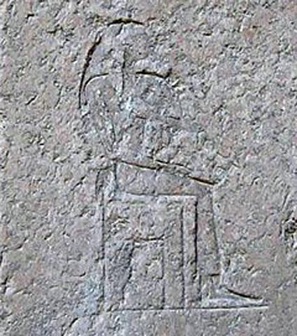 الملكة خنت كاوس كما هي مصورة على قبرها