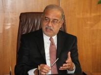 شريف إسماعيل فى وداع رئيس وزراء الكونجو…