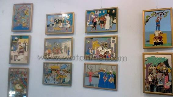 لوحات فنية وأشغال يدوية بأيدي الصم وضعاف السمع بالأوبرا (4)