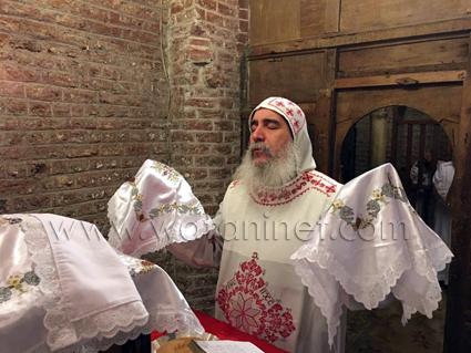 4 أسقف بني سويف يرأس قداس بكنيسة الحصن بالمحرق