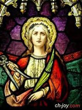 القديسه ابو للونيا شفيعة مرضي الاسنان