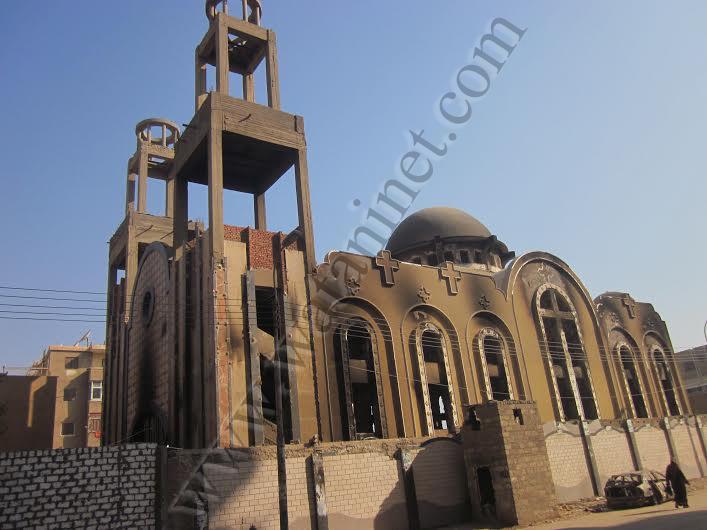 القوات المسلحة تبدأ اليوم فى أعمار كنيسة الأنبا موسى2