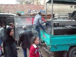 حملة لرفع الإشغالات بشوارع عين شمس7