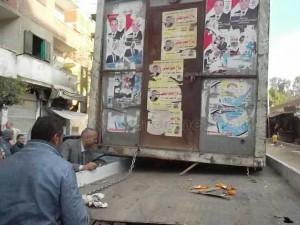 حملة لرفع الإشغالات بشوارع عين شمس8