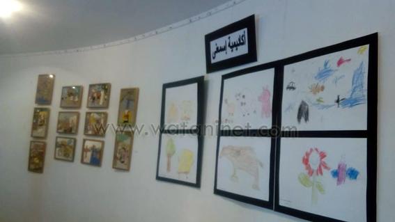 لوحات فنية وأشغال يدوية بأيدي الصم وضعاف السمع بالأوبرا (1)