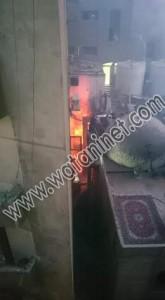 العناية الألهية تنقذ اعضاء الكشافة من الحريق بكنيسة مارمينا1
