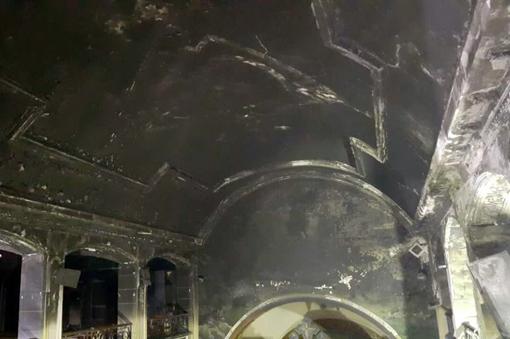 حريق كنيسة مارمينا (1)