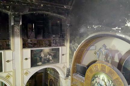 حريق كنيسة مارمينا (3)