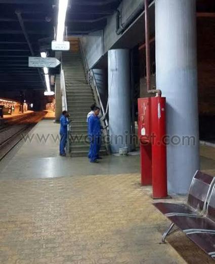 إضفاء مظهر حضاري بمداخل عدد من المحطات الرئيسية بالسكة الحديد (1)