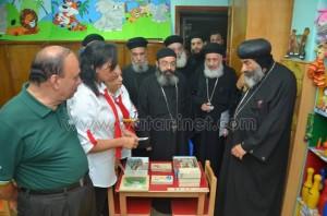 مطران بورسعيد يفتتح حضانة مارمينا والبابا كيرلس1