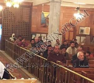 اجتماع الاسرة بكنيسة مارمينا يستقبل مطران بورسعيد